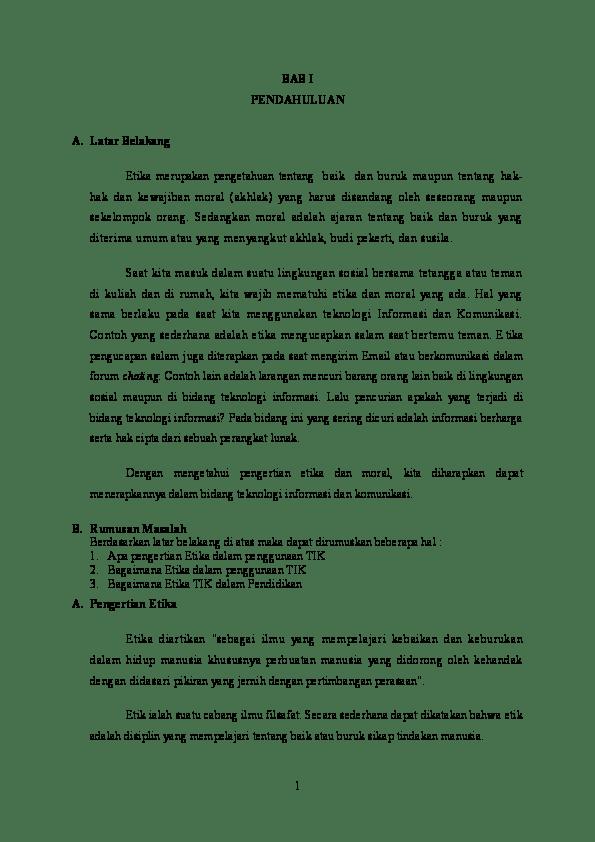 Makalah Etika Komunikasi : makalah, etika, komunikasi, Makalah-Etika-Dalam-Penggunaan-TIK.docx, Sugara, Academia.edu