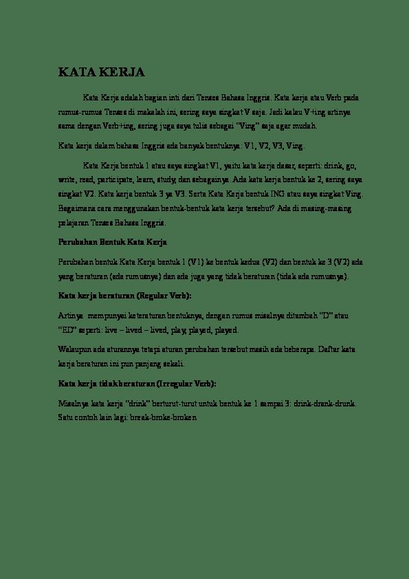Contoh Cerita Simple Past Tense Beserta Artinya : contoh, cerita, simple, tense, beserta, artinya, Present, Test,, Tense,, Continuous, Future, Tense, Grammar).docx, Akmal, Amrullah, Academia.edu