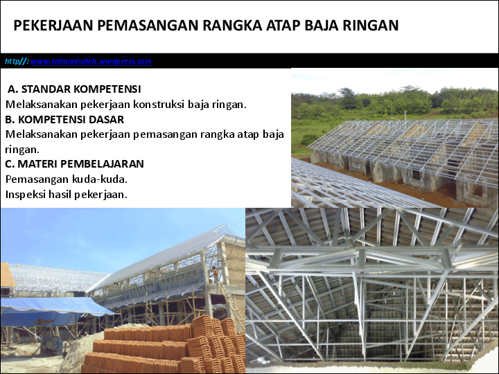 baja ringan pdf pekerjaan pemasangan rangka atap alpha nublay