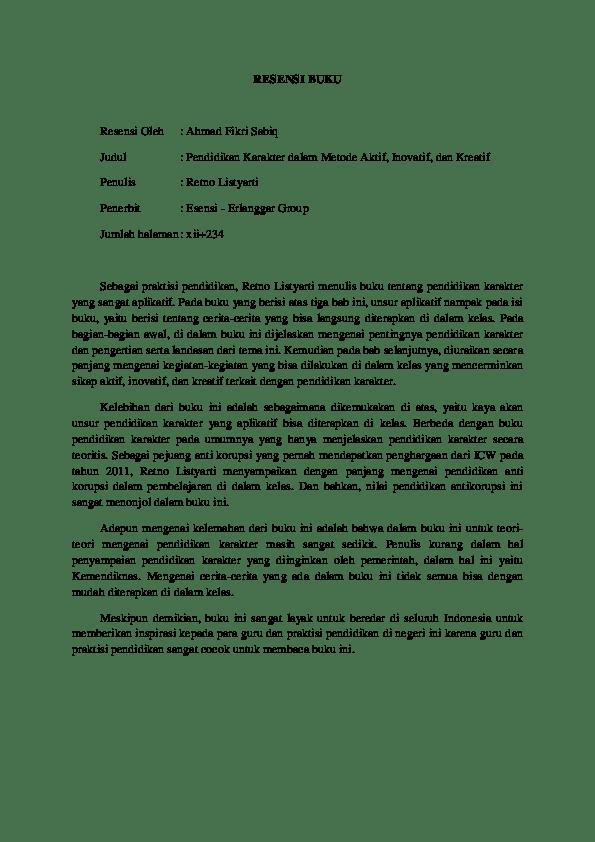Contoh Resensi Buku Non Fiksi Pengetahuan Info Berbagi Buku Cute766