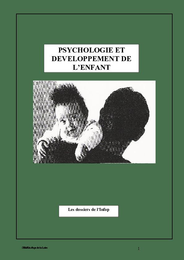 Cemea Pays De La Loire : cemea, loire, CEMEA-Pays, Loire, PSYCHOLOGIE, DEVELOPPEMENT, L'ENFANT, Dossiers, L'Infop, Iflflg, Academia.edu