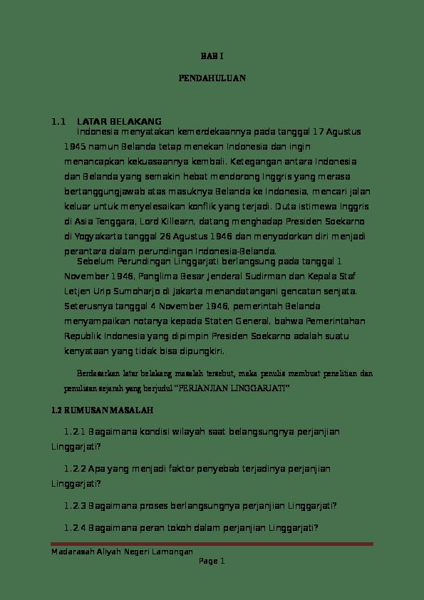 Isi Perjanjian Linggarjati : perjanjian, linggarjati, Perjanjian, Linggarjati, Titin, Hamidah, Academia.edu