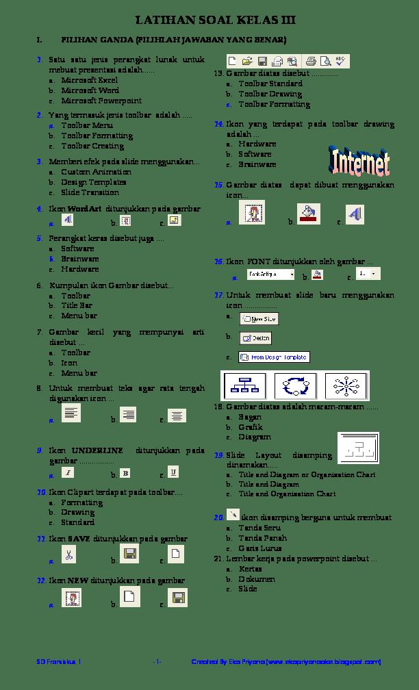 Jenis Jenis Toolbar : jenis, toolbar, LATIHAN, KELAS, Achmad, Taopan, Academia.edu