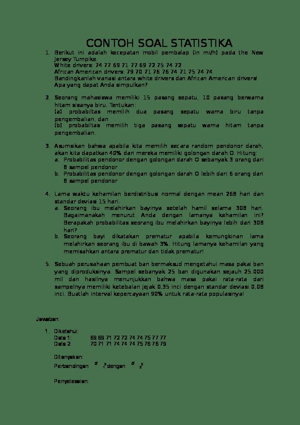Kewirausahaan komputasi dasar komputasi statistika manajemen matematika i matematika ii matematika dasar matriks dan ruang vektor metode peramalan… Contoh Soal Probabilitas Kuliah