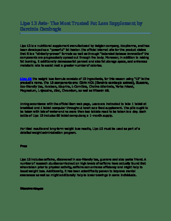 pdf lipo 13 avis