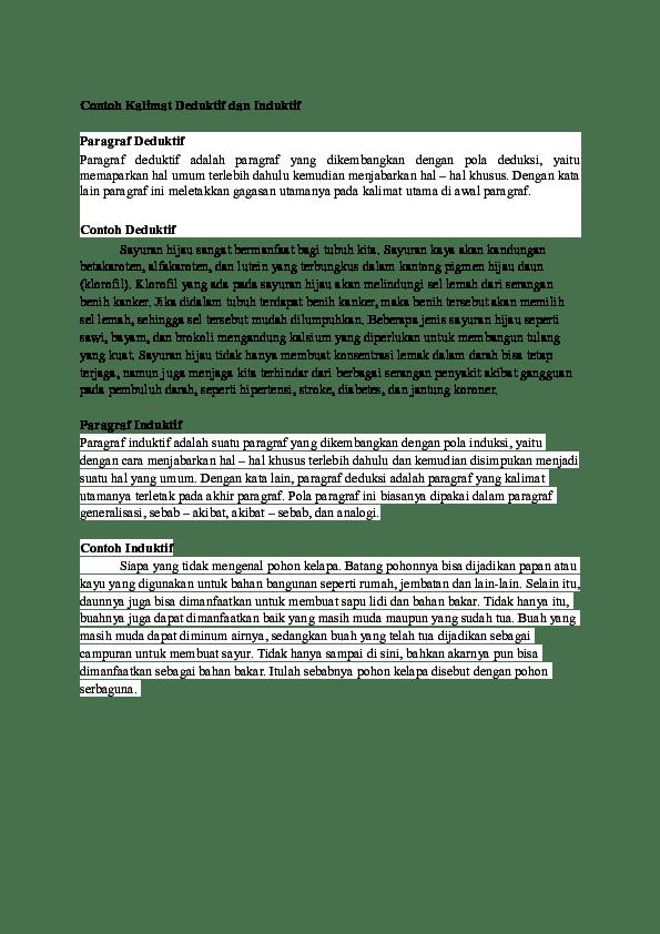 Kalimat Deduktif : kalimat, deduktif, Contoh, Kalimat, Deduktif, Induktif, Putri, Pertiwi, Academia.edu