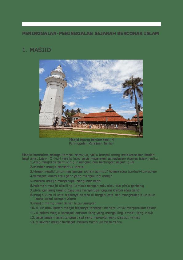 Peninggalan Kerajaan Banten Beserta Gambarnya : peninggalan, kerajaan, banten, beserta, gambarnya, PENINGGALAN, Kristianti, Academia.edu