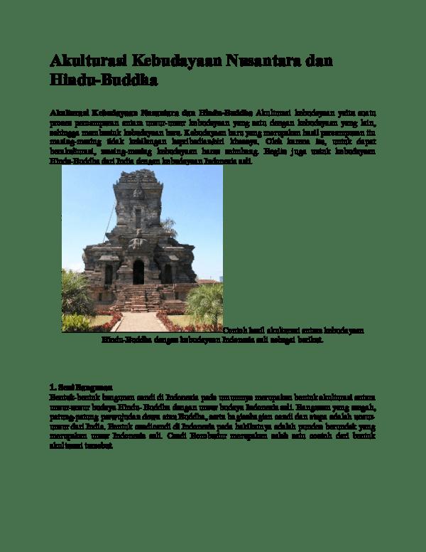 Akulturasi Budaya Di Indonesia : akulturasi, budaya, indonesia, Akulturasi, Kebudayaan, Nusantara, Hindu-Buddha, Wulandari, Academia.edu