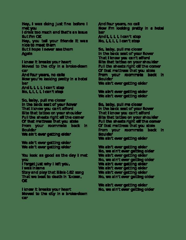 I Was Doing Just Fine Before I Met You Lyrics : doing, before, lyrics, Lyrics, Ronaldo, Castillo, Academia.edu