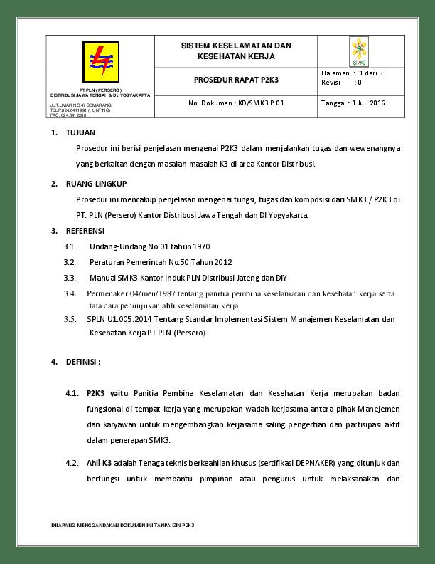 Contoh Program P2k3 : contoh, program, PROSEDUR, RAPAT, Puspita, Academia.edu