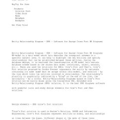 Entity Relationship Diagram Software Lucas Tvs Wiper Motor Wiring Er Diagrams Design Elements Erd Crow S Foot Notation Kelly Txt
