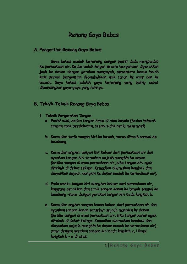 Pengertian Gaya Renang Bebas : pengertian, renang, bebas, Renang, Bebas, Shiro, Academia.edu