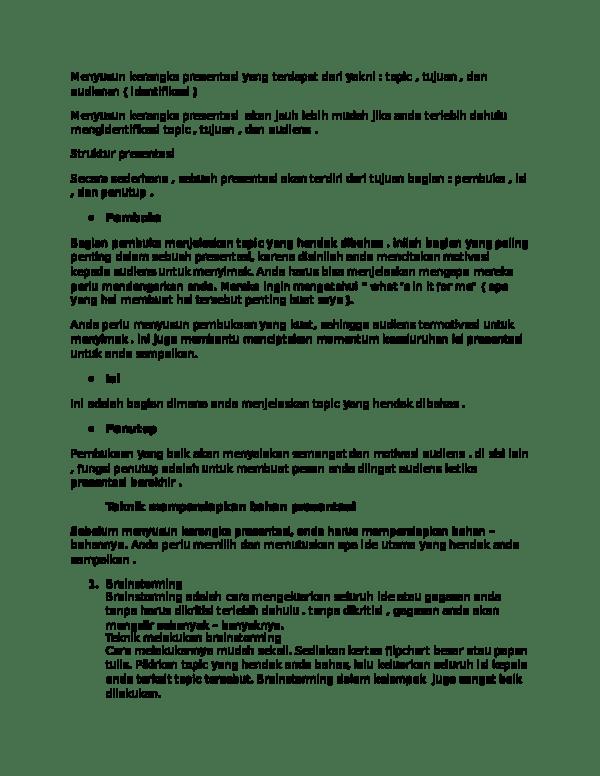 Kalimat Pembuka Presentasi Singkat : kalimat, pembuka, presentasi, singkat, Menyusun, Kerangka, Presentasi, Terdapat, Yakni, Abdul, Rozaq, Academia.edu