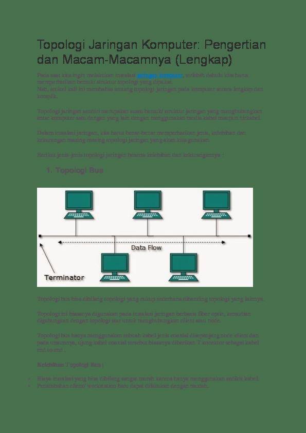 Jenis Jenis Topologi Jaringan : jenis, topologi, jaringan, Pengertian, Macam, Topologi, Jaringan, Komputer, Lengkap, Saputro, Academia.edu