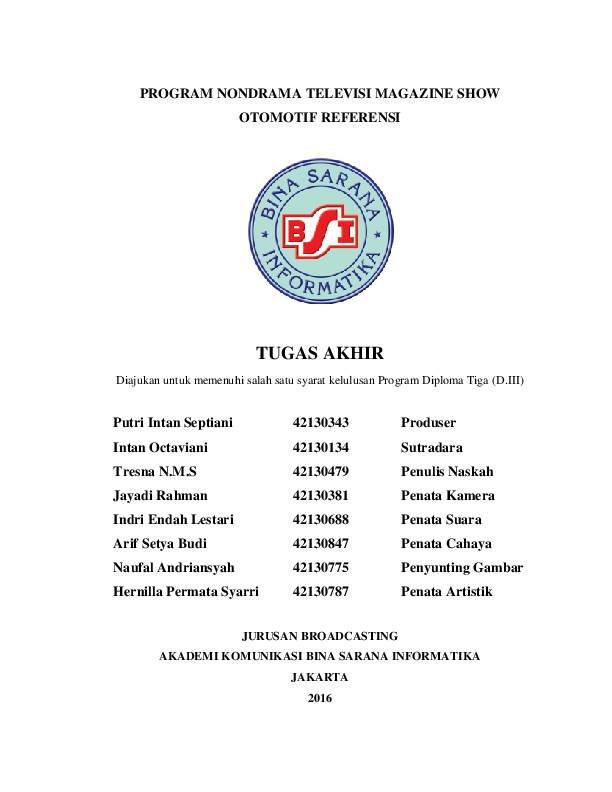 (DOC) Apresiasi Drama Indonesia (Jawaban) - Academia.edu