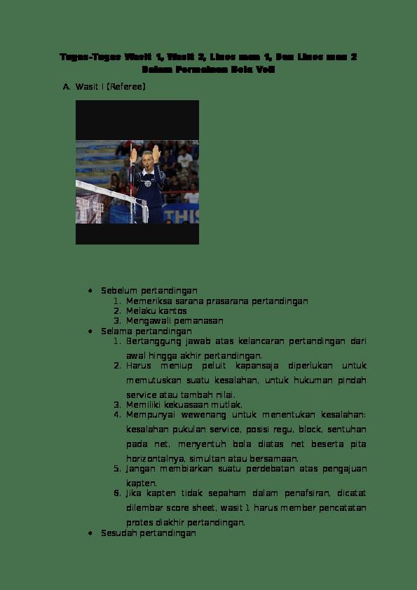 Apa Tugas Seorang Wasit Dalam Permainan Sepak Bola : tugas, seorang, wasit, dalam, permainan, sepak, Tugas-Tugas, Wasit, Lines, Dalam, Permainan, Guntur, Kurniawan, Academia.edu