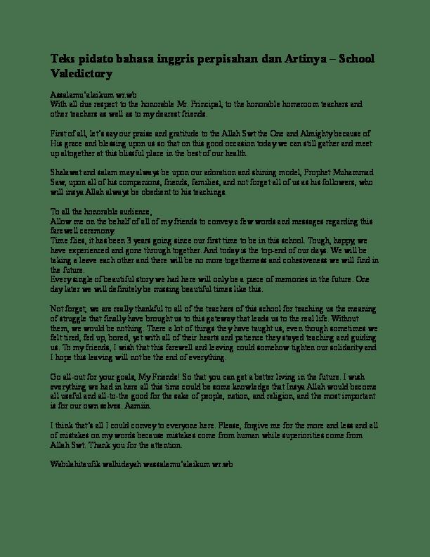Pidato Bahasa Inggris Tentang Perpisahan : pidato, bahasa, inggris, tentang, perpisahan, Contoh, Pidato, Singkat, Bahasa, Inggris, Materi, Pelajaran