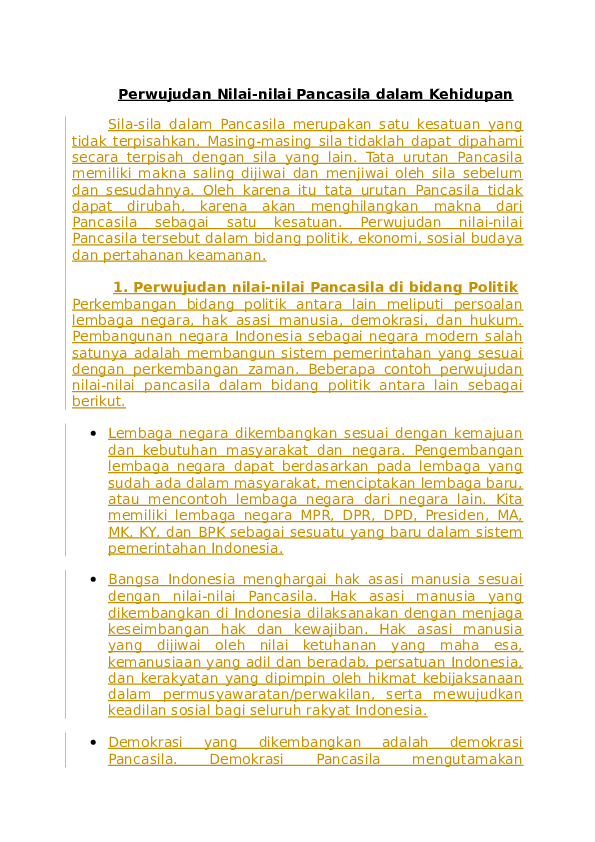 Contoh Perwujudan Nilai-nilai Pancasila Dalam Bidang Pertahanan Dan Keamanan : contoh, perwujudan, nilai-nilai, pancasila, dalam, bidang, pertahanan, keamanan, Perwujudan, Nilai, Hussein, Fietry, Academia.edu