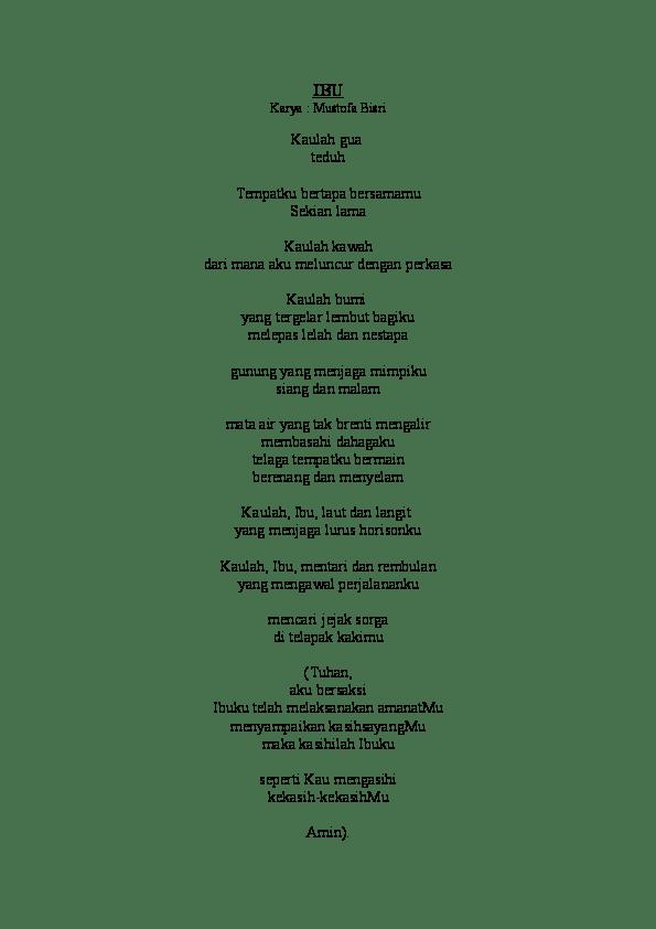 Teks Puisi Ibu Karya Mustofa Bisri : puisi, karya, mustofa, bisri, Video, Puisi, Karya, Mustofa, Bisri, Koleksi