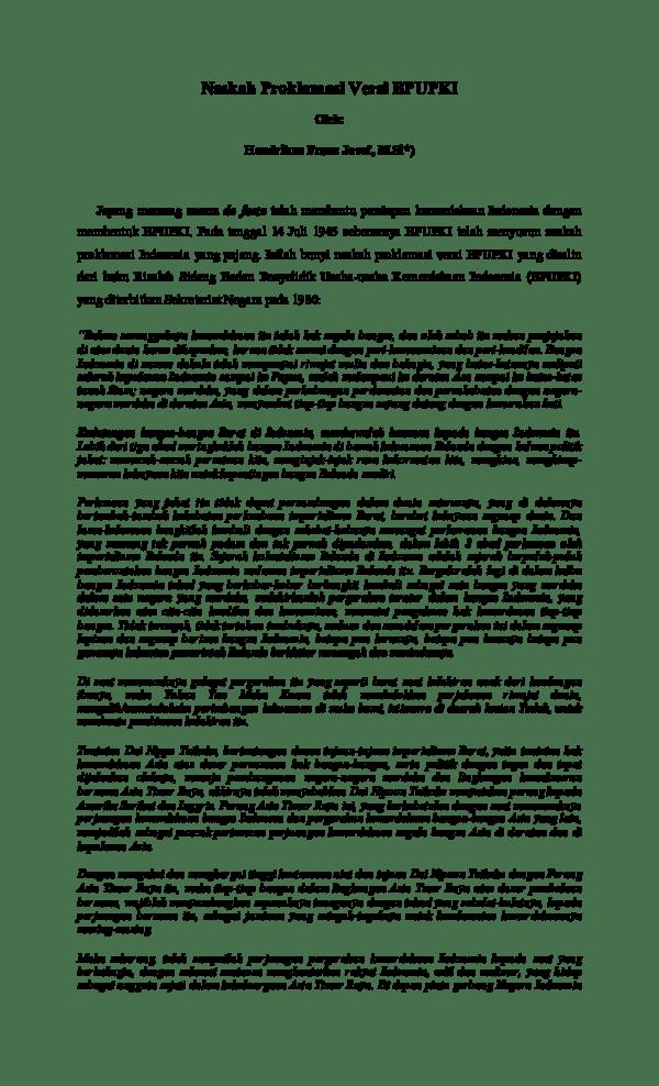 Download Teks Proklamasi : download, proklamasi, Naskah, Proklamasi, Versi, BPUPKI, Hendrikus, Franz, Josef,, Academia.edu