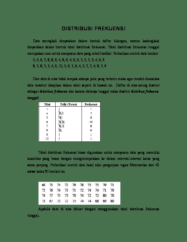 Contoh Soal Distribusi Frekuensi : contoh, distribusi, frekuensi, DISTRIBUSI, FREKUENSI.doc, Septiana, Windyaningsih, Academia.edu