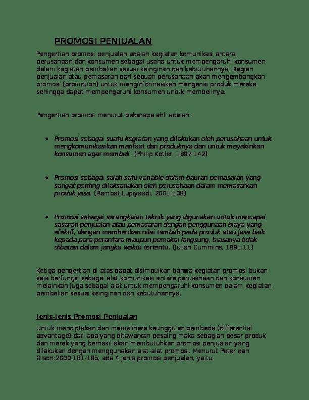 Alat Alat Promosi Penjualan : promosi, penjualan, TUGAS, PROMOSI, PENJUALAN, DESTAVILLA, Destara, Rhevilla, Academia.edu