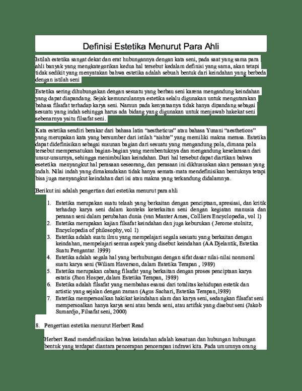 Pengertian Indah : pengertian, indah, Definisi, Estetika, Menurut, Rahmah, Academia.edu