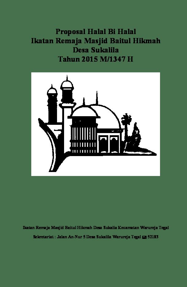 Contoh Proposal Halal Bihalal : contoh, proposal, halal, bihalal, Proposal, Halal, Achsanul, Fiqri, Academia.edu