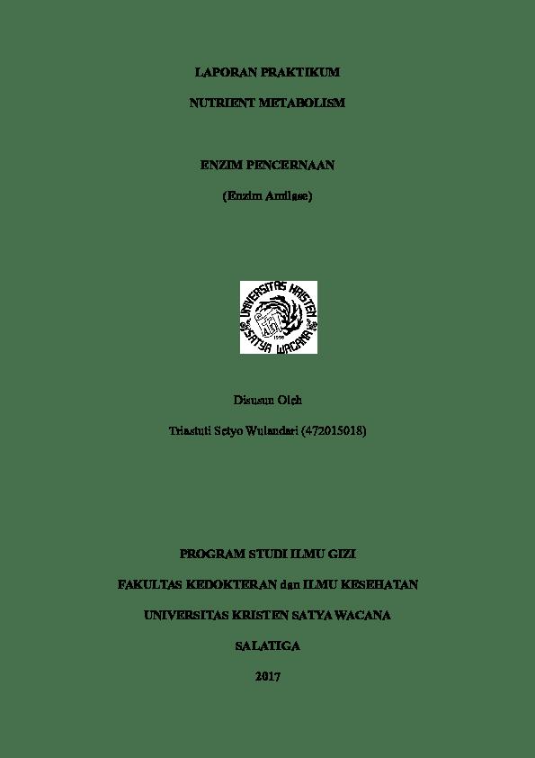 Laporan Praktikum Enzim Amilase Pada Air Liur : laporan, praktikum, enzim, amilase, Enzim, Amilase, Rananda, Junezar, Saputra, Academia.edu