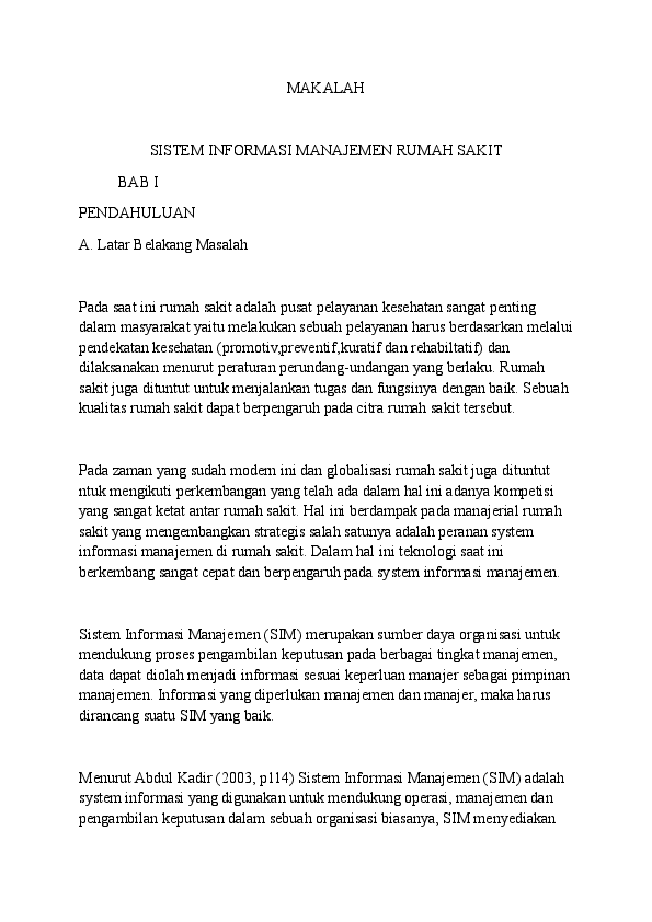 Sistem Informasi Rumah Sakit - Scribd