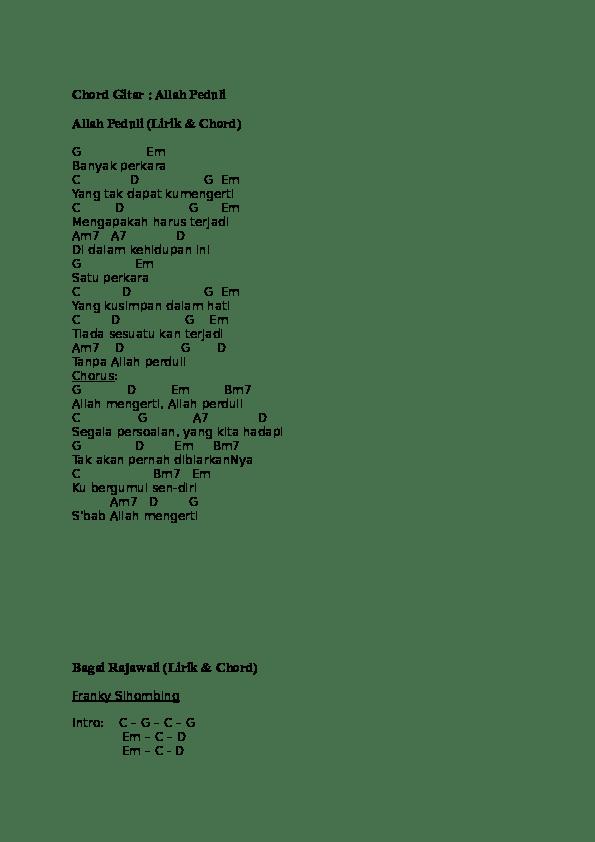 Kaulah Harapan Chord : kaulah, harapan, chord, Chord, Gitar, Allah, Peduli, (Lirik, Chord), Bagai, Rajawali, Ningrum, Academia.edu
