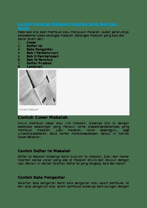 Contoh Resensi Novel Yang Benar Dan Lengkap Kumpulan Contoh Makalah Doc Lengkap Cute766