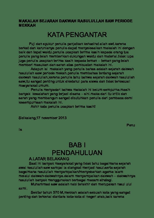 Sejarah Dakwah Rasulullah Periode Mekah : sejarah, dakwah, rasulullah, periode, mekah, Contoh, Dakwah, Muhammad, Mekkah, Madinah, Cute766