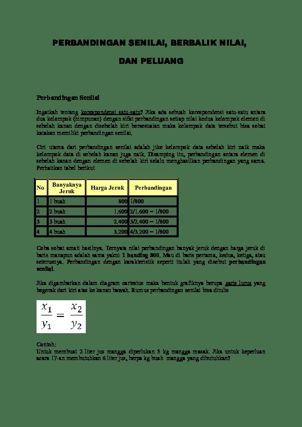 Contoh Soal Perbandingan Senilai Dan Berbalik Nilai : contoh, perbandingan, senilai, berbalik, nilai, Contoh, Perbandingan, Senilai, Dengan, Tabel, Grafik, Terbaru