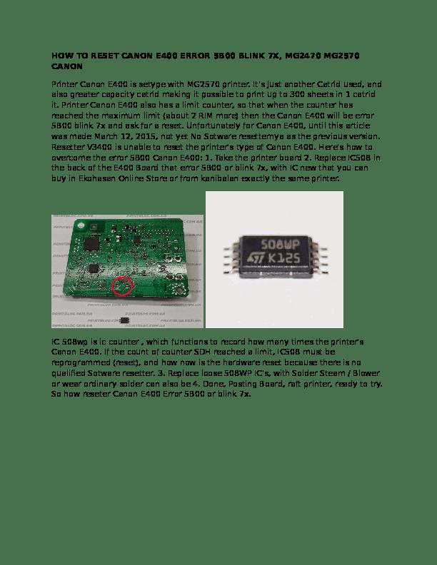 Error 5b00 Canon E400 : error, canon, Download, Software, Resetter, Canon