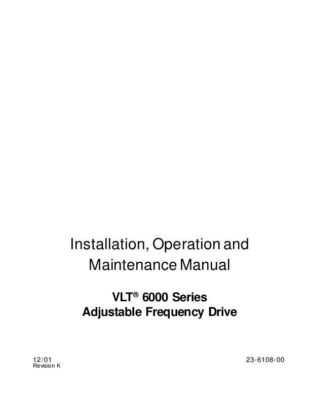 danfoss vlt 6000 wiring diagram rheem ac unit installation operation and maintenance manual series pdf