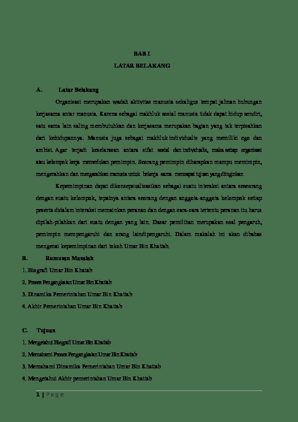 Proses Pengangkatan Umar Bin Khattab : proses, pengangkatan, khattab, LATAR, BELAKANG, Syifia, Irsahamida, Academia.edu