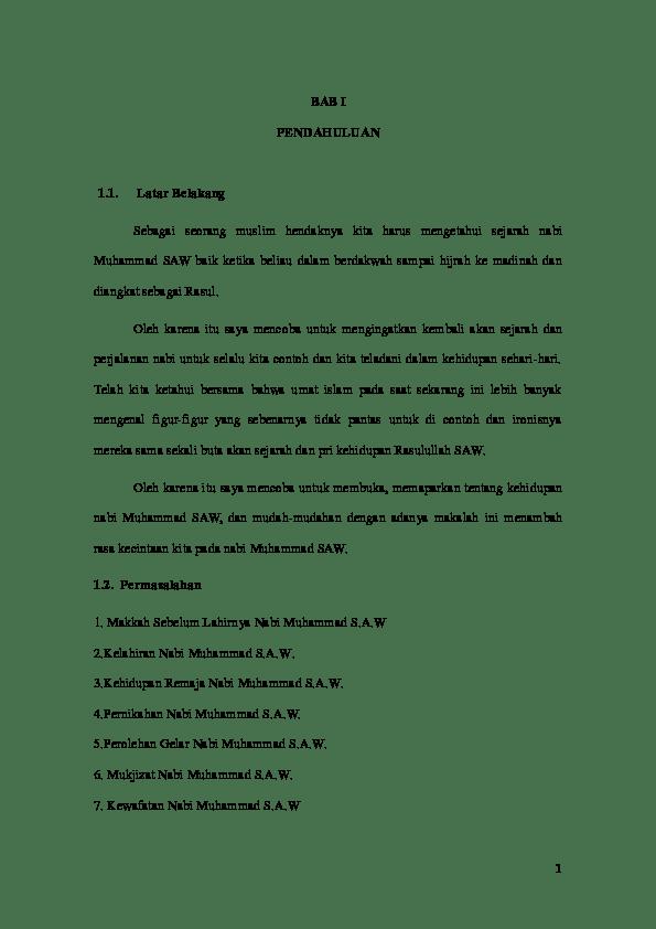 Latar Belakang Nabi Muhammad : latar, belakang, muhammad, Latar, Belakang, Muhammad