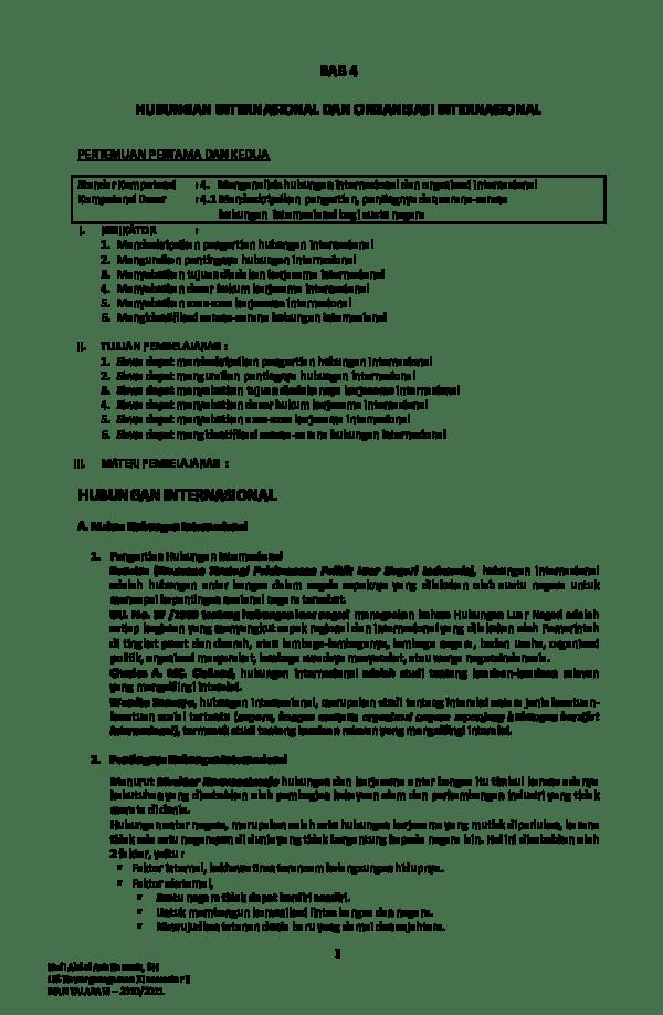 Hubungan Internasional: Pengertian, Asas, Tujuan dan Manfaat