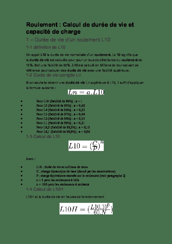 Calcul Durée De Vie Roulement : calcul, durée, roulement, Roulement, Calcul, Durée, Capacité, Charge, Définition, Amine, Salem, Academia.edu