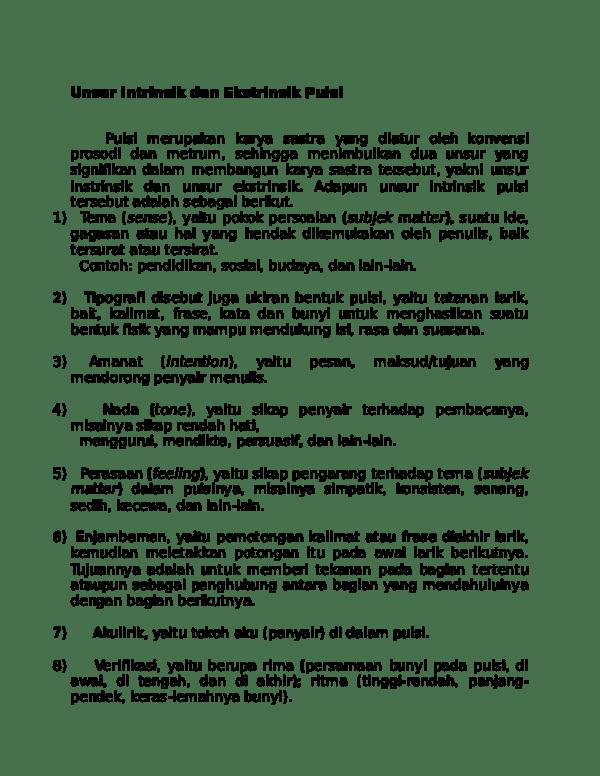 Pengertian Unsur Intrinsik Dan Unsur Ekstrinsik : pengertian, unsur, intrinsik, ekstrinsik, Unsur, Ekstrinsik, Geguritan
