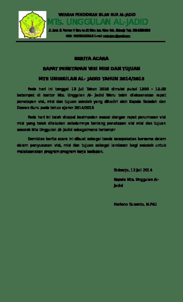 PDF Notulensi Rapat - IAIN PURWOKERTO