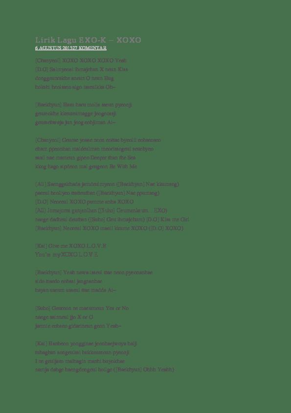 Lirik Dont Go Exo : lirik, Lirik, EXO-K, Salsa, Academia.edu