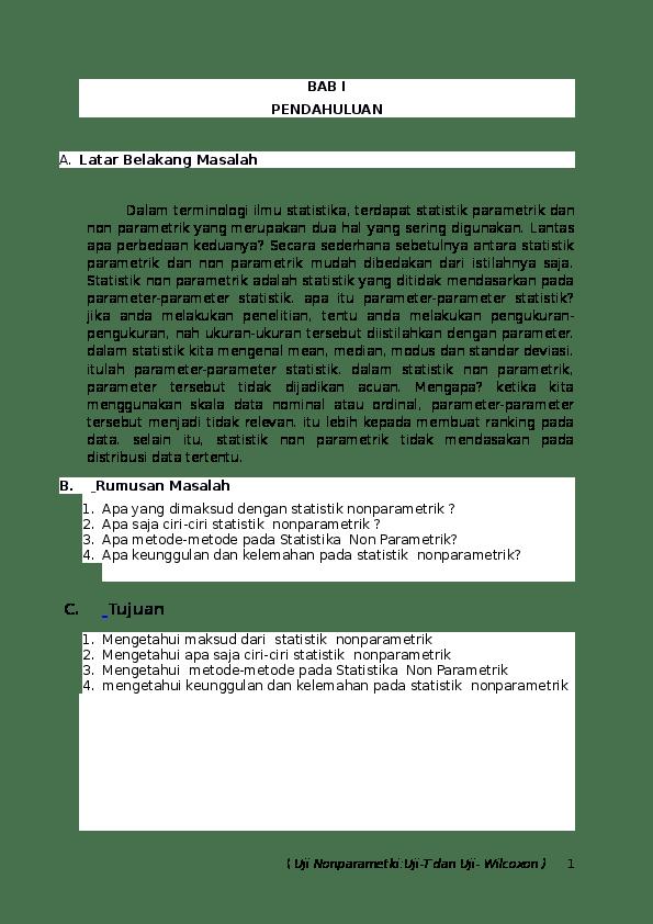 Makalah Statistik Non Parametrik : makalah, statistik, parametrik, Makalah, Nonparametik, Rizky, Hidayat, Academia.edu