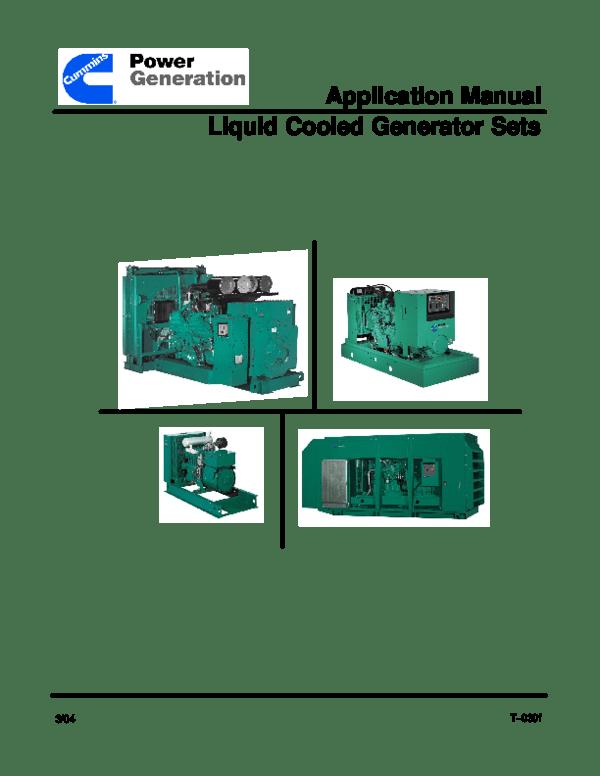 One Generator Standby Diagram Line