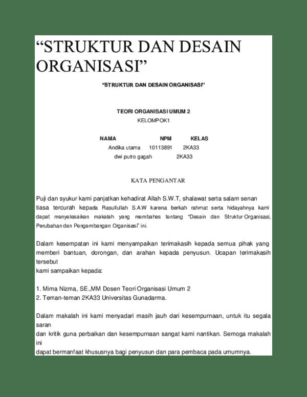 Desain Organisasi Pdf : desain, organisasi, STRUKTUR, DESAIN, ORGANISASI.docx, PUTRA, Academia.edu