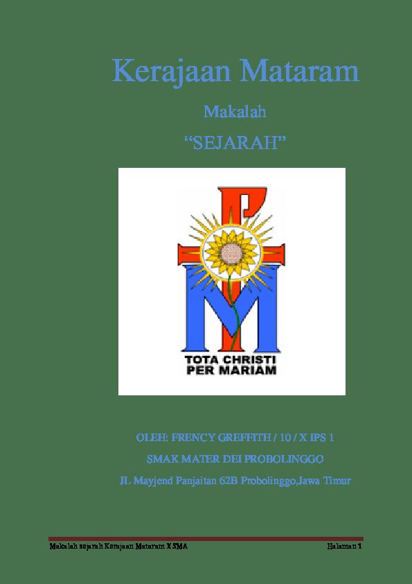 Makalah Kerajaan Mataram Kuno : makalah, kerajaan, mataram, MAKALAH, KERAJAAN, MATARAM, Frency, Greff, Academia.edu