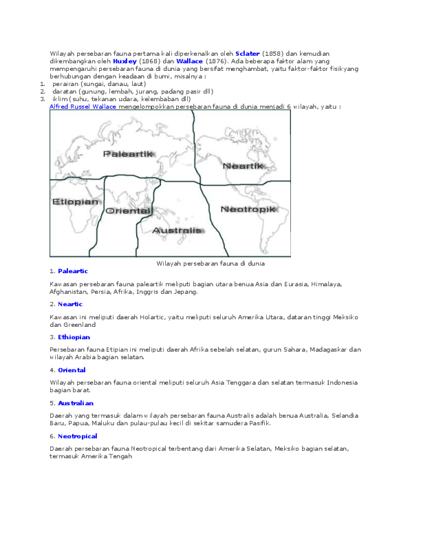 Persebaran Fauna Paleartik : persebaran, fauna, paleartik, Geografi, Fauna, .cs49, Academia.edu