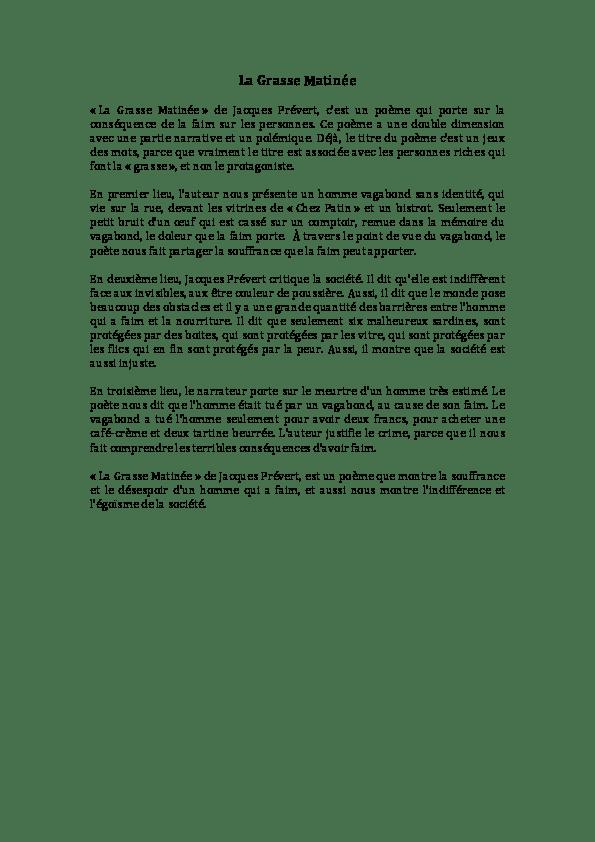 Jacques Prévert La Grasse Matinée : jacques, prévert, grasse, matinée, Grasse, Matinée, Saveena, Rainaldi, Academia.edu