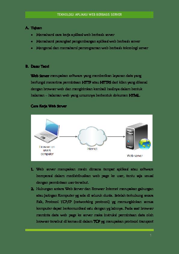 Perangkat Pengembangan Aplikasi Web Berbasis Server : perangkat, pengembangan, aplikasi, berbasis, server, Jobsheet, Teknologi, Aplikasi, Berbasis, Server, Naura, Academia.edu